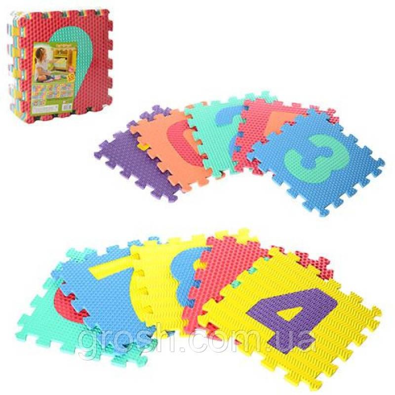 Детский игровой коврик - пазл (EVA, 10 деталей, 315*315*10 мм)