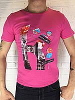 Футболка мужская TommyTech Kula Lumpur розовая