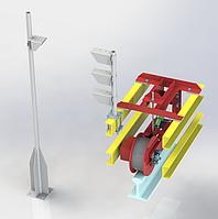Система определения местоположения мостового или козлового крана в пространстве