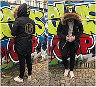 Куртка мужская Versace D5601 черная