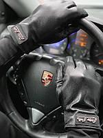 Кожаные перчатки Philipp Plein D5596 черные