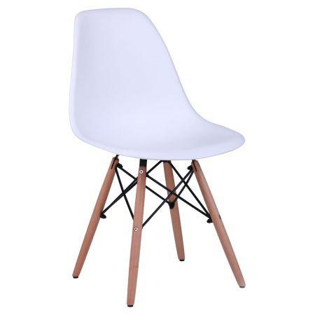 Стул лофт Aster PL Wood Пластик Белый, TM AMF
