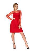 Красное платье с жемчугом, фото 1