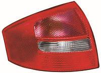 Фонарь задний левый Audi A6 (C5) SDN с задним ходом (красно-белый) (DEPO). 441-1967L-UE