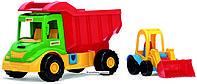 Игрушечный грузовик Multi Truck с трактором