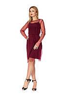 Нарядное платье-сетка женское, фото 1