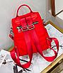 Рюкзак женский трансформер сумка Undress красный, фото 6