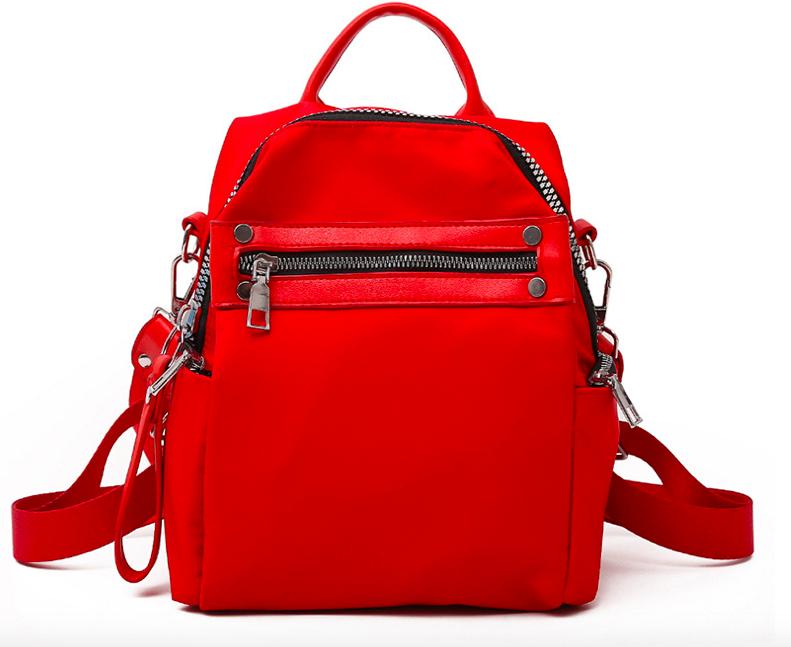 Рюкзак женский трансформер сумка Undress красный
