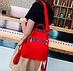 Рюкзак женский трансформер сумка Undress красный, фото 3