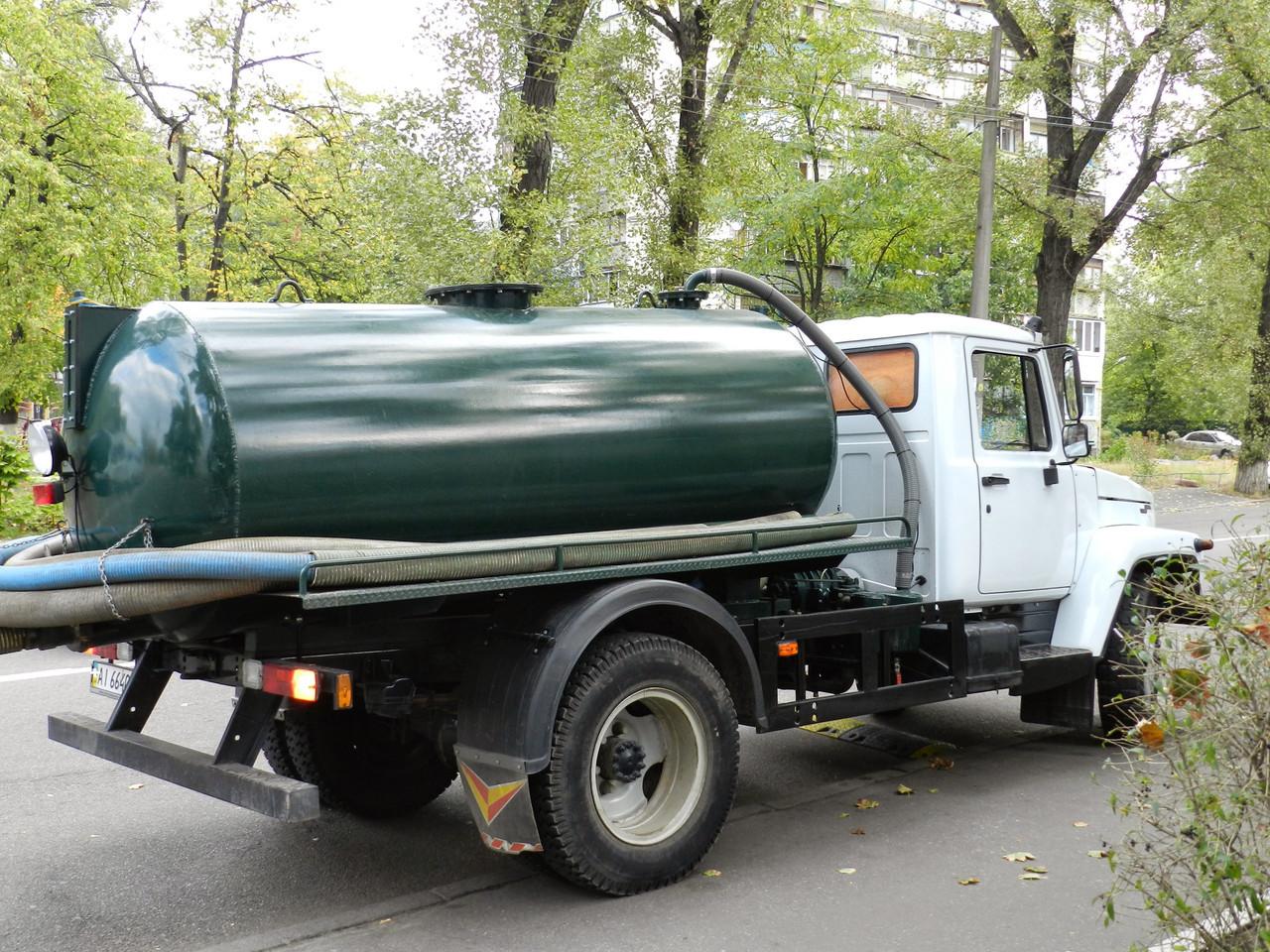 Вивезення, утилізація, відкачування рідких побутових відходів (каналізації).Київ