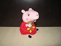 Игрушка мягкая свинка пеппа с игрушкой
