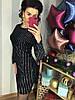 Сверкающее платье из нежного бархата с эффектом голокраммы. Размер: М-42 И Л-44. Цвет: черный (0442), фото 6