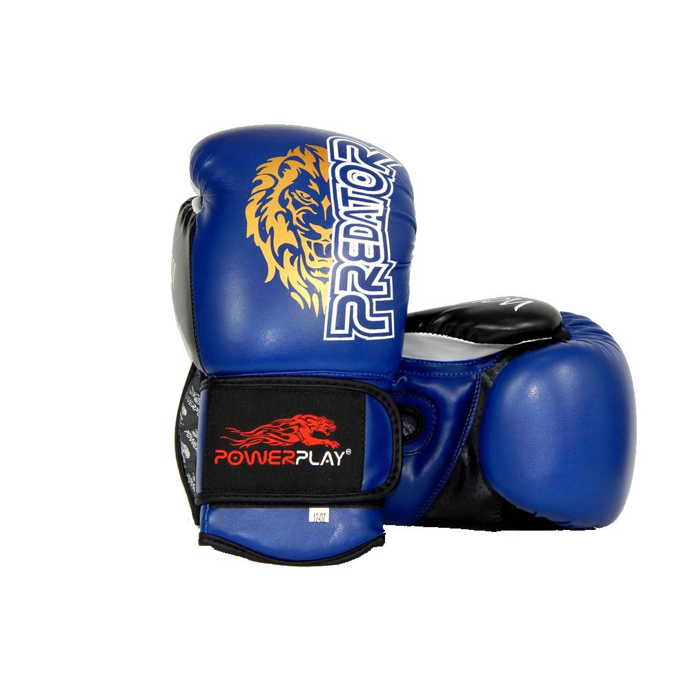 Боксерские перчатки PowerPlay 3006 синие 14 унций