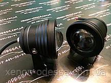 Алюминиевый водонепроницаемый фонарь 8W COB LED с линзой (черный), фото 3