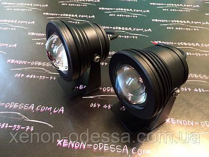 Алюминиевый водонепроницаемый фонарь 8W COB LED с линзой (черный), фото 2
