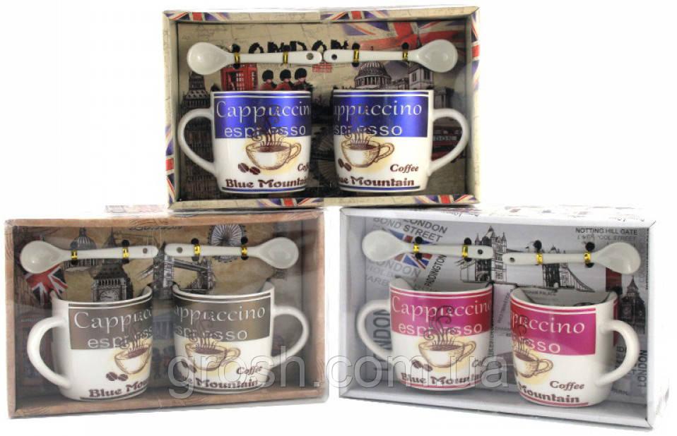Подарочный набор из 2-х чашек и ложек
