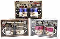 Подарочный набор из 2-х чашек и ложек, фото 1