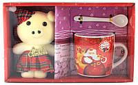 Подарочный набор - керамическая чашка, ложечка и свинка