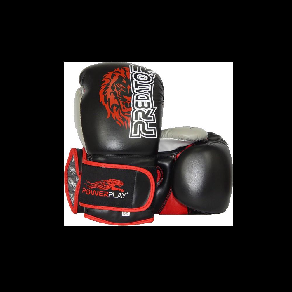Боксерские перчатки PowerPlay 3006 черные 10 унций
