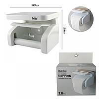 Держатель для туалетной бумаги закрытый с полочкой, фото 1