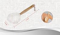 Мочалка банная с деревянной ручкой (бант)