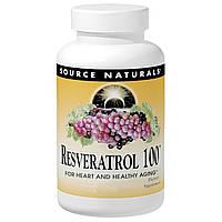 Ресвератрол (Resveratrol), Source Naturals,  100 мг, 60 таблеток