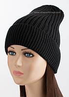 Молодежная вязаная шапка Luis Flip Uni черная