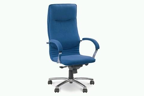 Креслo кожаное для руководителя «Nova steel chrome» SP