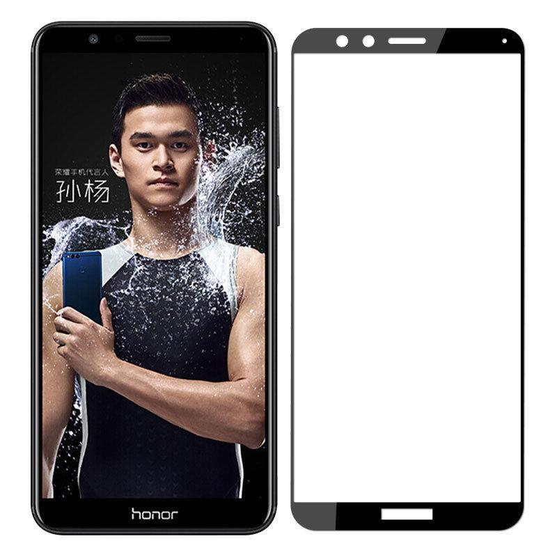 Honor 7X Colorful Tempered Glass Black Защитное Стекло
