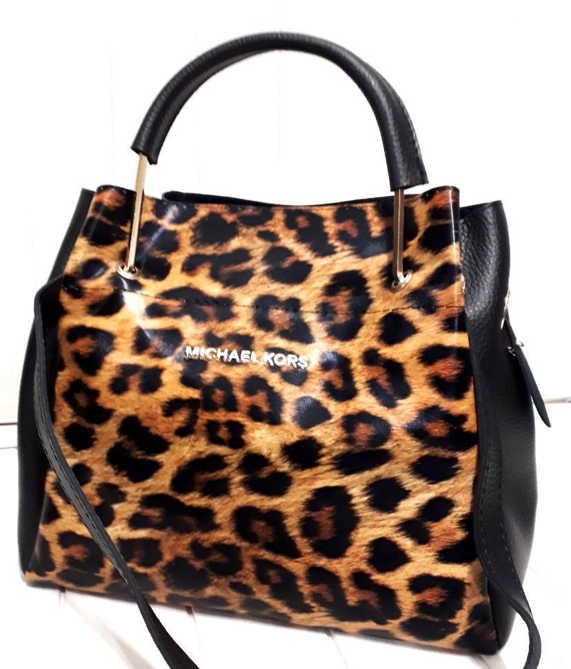 7f939d8232a0 Женская черная сумка Michael Kors 28*26 см (леопард крупный), цена 550  грн., купить в Одессе — Prom.ua (ID#855303505)