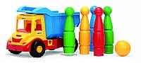 Игрушечный грузовик Multi Truck с кеглями
