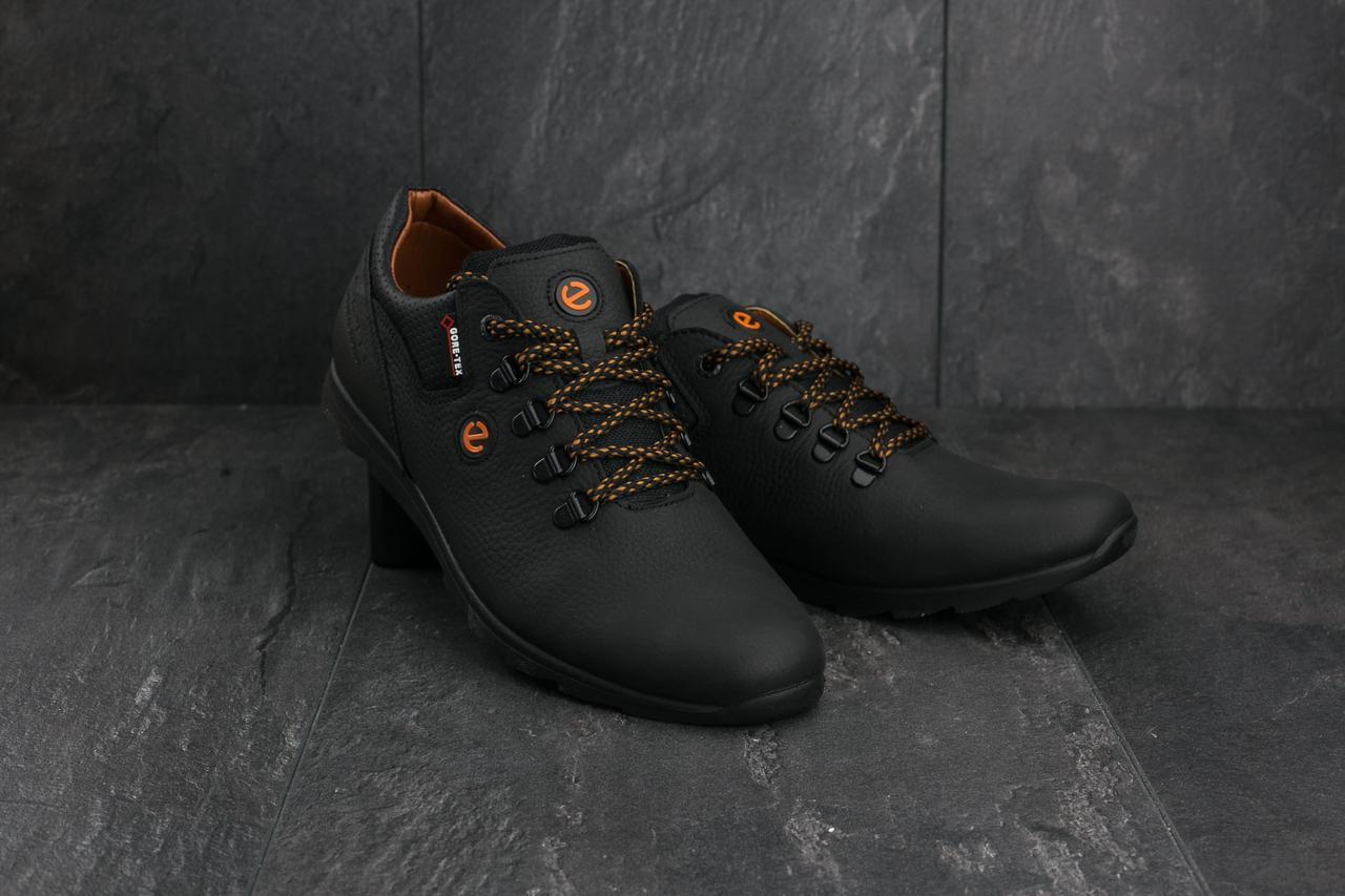 354e30e3581365 Кроссовки в стиле Ecco (весна-осень, мужские, кожа, черный): продажа ...