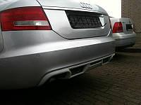 Накладка на задний бампер Audi A6 C6 (2004-2008), Юбка Ауди А6 Ц6