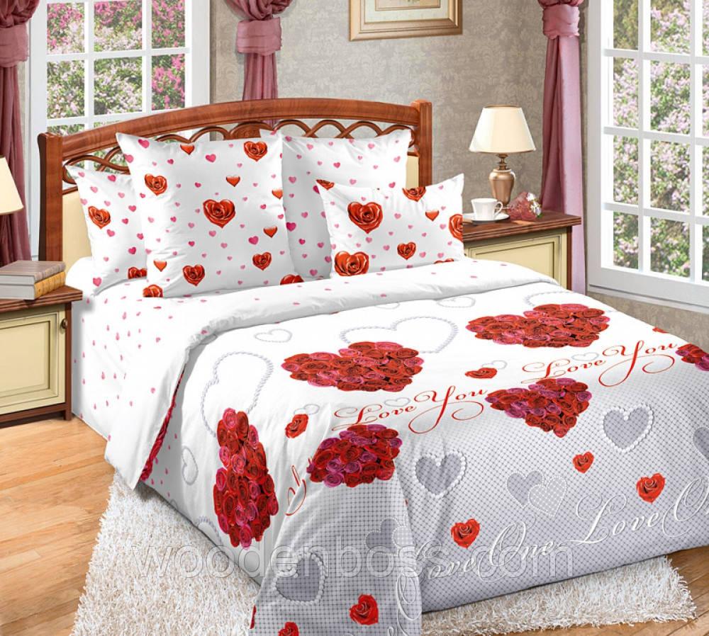 """Комплект постельного белья """"""""Вечная любовь"""", перкаль"""