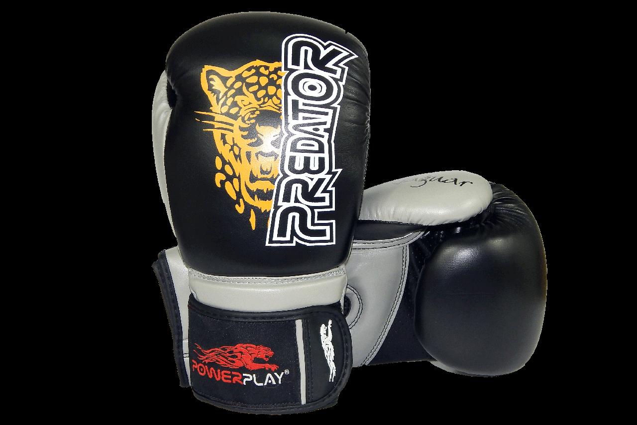 Боксерские перчатки PowerPlay 3008 черные 16 унций