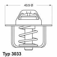 Термостат 86°С Peugeot J5D