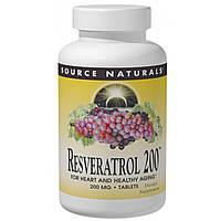 Ресвератрол (Resveratrol), Source Naturals,  200 мг, 60 таблеток