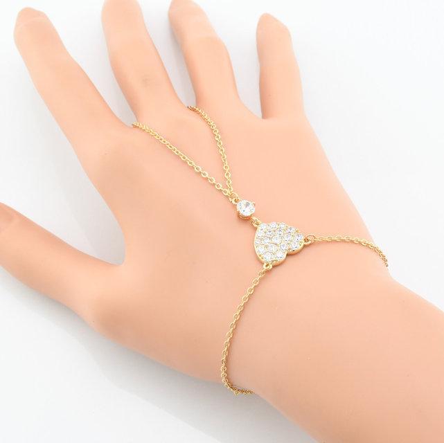"""Браслет-слейф Xuping Jewelry 19/22 см """"Сердечко""""  медицинское золото, позолота 18К. А/В 2258"""