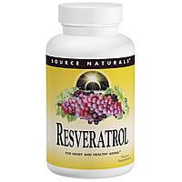 Ресвератрол (Resveratrol), Source Naturals,  60 капсул