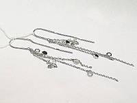 Серебряные серьги-протяжки Пчелка. Артикул С2/1244, фото 1