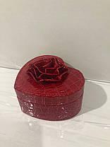 Кожаная шкатулка для украшений с вкладышем (8012 K), фото 2