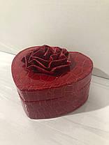 Кожаная шкатулка для украшений с вкладышем (8012 K), фото 3