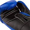 Боксерские перчатки PowerPlay 3015 синие [натуральная кожа] 16 унций, фото 4
