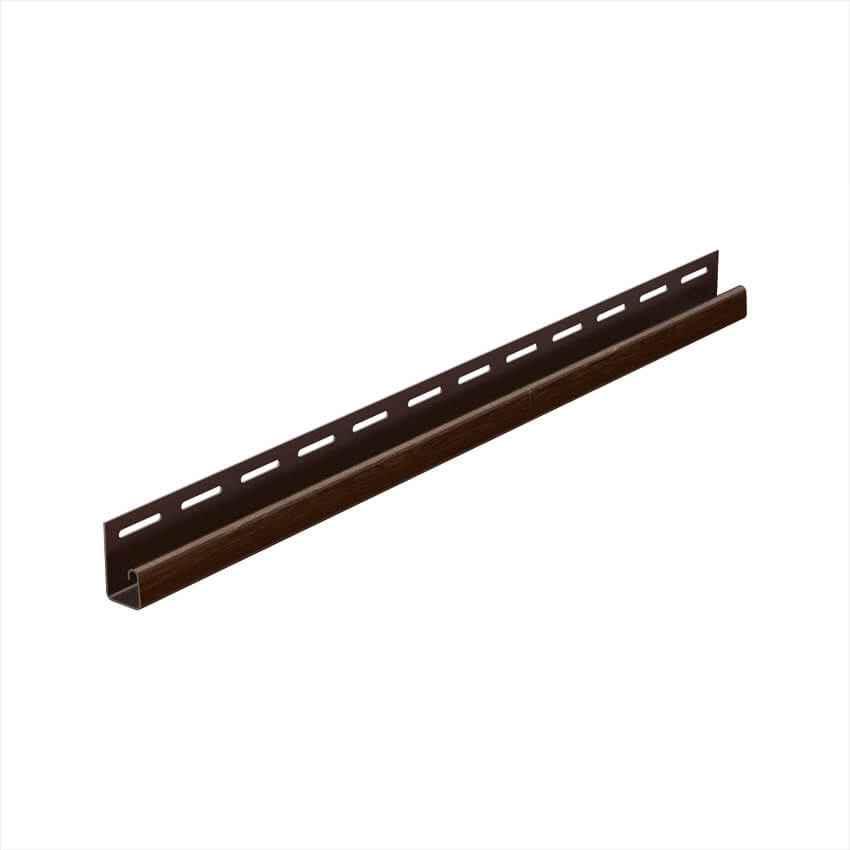 Монтажная планка для софита, J-профиль ПВХ Galeco Dekor 4м Темно-коричневый
