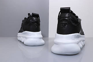 Кроссовки Versace Chain Reaction Black White (Replica), фото 3