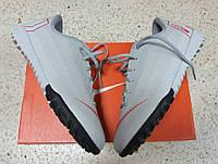 Детские сороконожки Nike Mercurial VaporX XII Academy TF Grey/Crimson