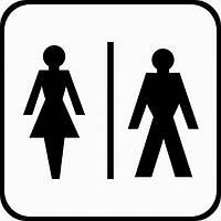 """Наклейка """"Туалет м\ж светлая"""" №2"""