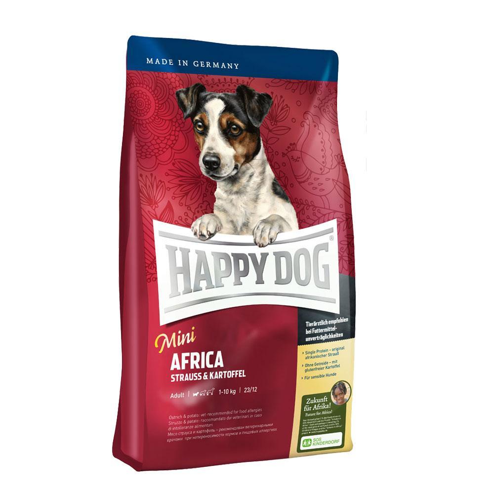 Happy Dog Supreme Mini Africa - сухой корм для собак малых пород (страус с картофелем)