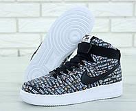 """Кроссовки мужские кожаные Nike Lunar Force 1 Just Do It """"Черные"""" высокие р. 41-45, фото 1"""
