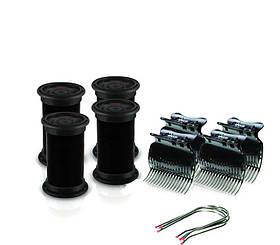 Электробигуди Diva, черные, D422, бигуди+шпильки+зажимы, 32 mm